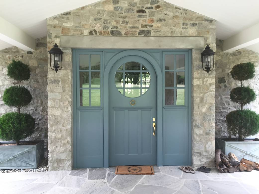 grey color entrance door