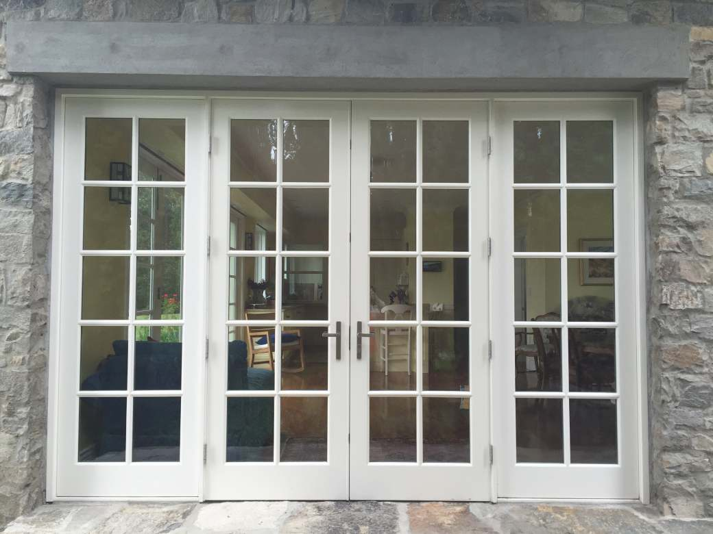 exterior view of living room doors