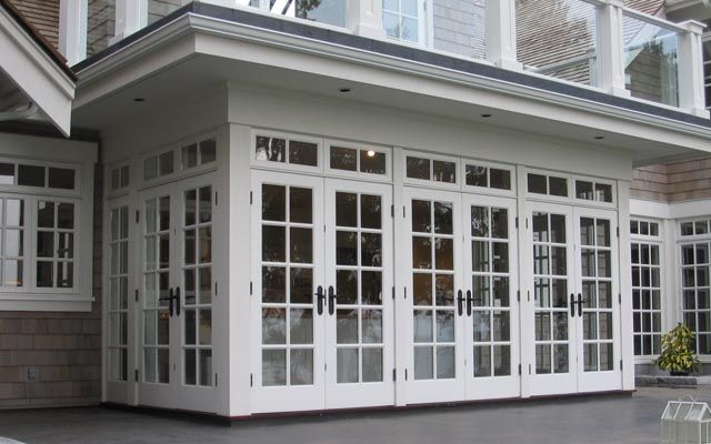 square glass doors